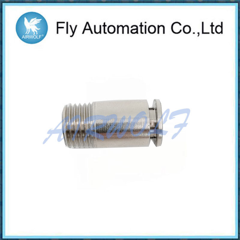 Circular Shaped Pneumatic Tube Fittings Stainless Steel Straight Through Type