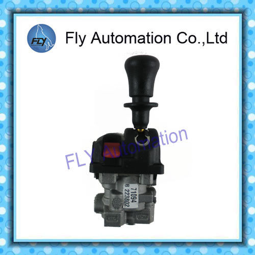 Hyva 3-position proportional Dump Truck Controls Aluminum PTO Pump Control Valves  lever positioner in metal
